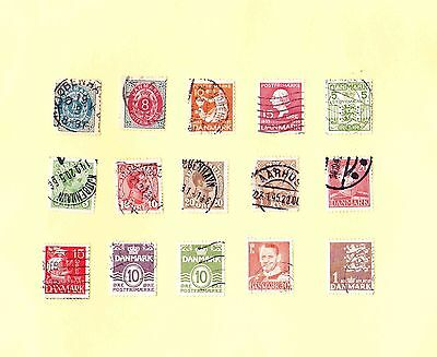 DENMARK STAMPS OLD MIXED LOT including Some Early Issues