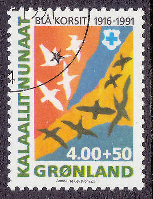 GREENLAND 1991 stamp Blue Cross 75th Anniversary fine used (CTO)
