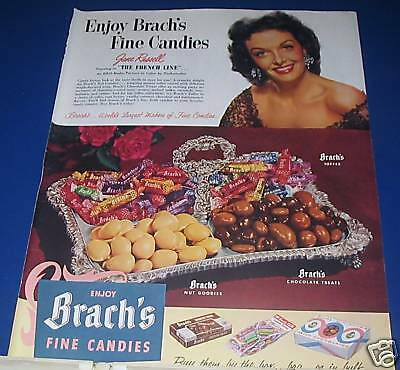 1953 Brach's Candy Ad JANE RUSSELL photo