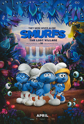 Smurfs Lost Village - original DS movie poster - 27x40 D/S Advance B