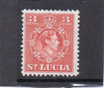 St.LUCIA GV1 1949-50 new currency 3c  sg 148 L.H.MINT