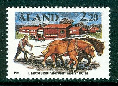 ALAND 1988 stamp Agricultural Education Centenary um (NH) mint Horses