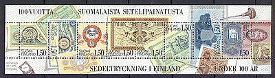 FINLAND 1985 stamps Finnish Bank Note Printing um (NH) mint