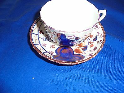 Antique China,  Allertons Gaudy Welsh -  Cup & Saucer