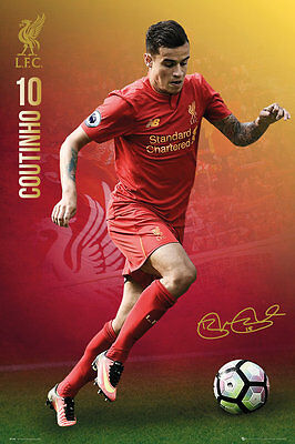 Liverpool FC Poster - COUTINHO 16/17 - New LIVERPOOL Football poster SP1393