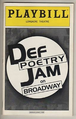 """""""Def Poetry Jam on Broadway""""  Playbill 2002  Russell Simmons"""