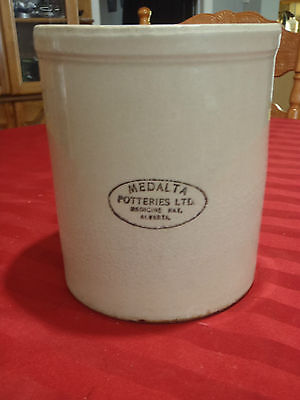 medalta stoneware crock  made in Alberta canada