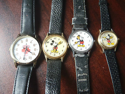 mickey mouse watches vintage plus canada hall of fame watch lot of 4 watches