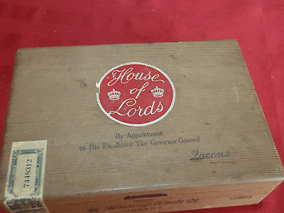 House of Lords Wooden Wood Cigar Box