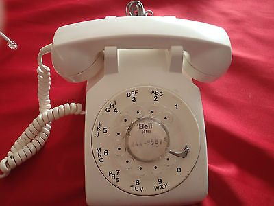 vintage rotary corded phone white northern telecom