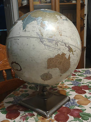 world globe 12 inch round replogle platinum classic made in USA