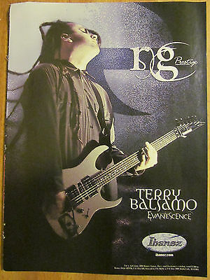 Evanescence, Terry Balsamo, Ibanez Guitars, Full Page Promotional Ad