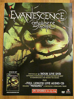 Evanescence, Amy Lee, Anywhere But Home, Full Page Promotional Ad