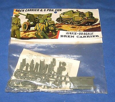 Vintage Airfix Bren Carrier & 6 PDR. Gun 1:72 scale Model Kit