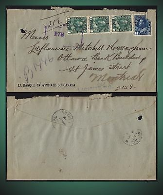 Approx.  1918 -Registered Cover Montreal  - Lachute Quebec .