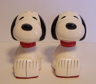 Snoopy Bookends Sitting Red Collar Peanuts Butterfly Originals Vintage