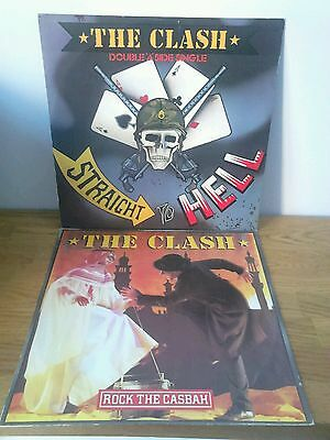 """THE CLASH Straight To Hell & Rock The Casbah 12"""" singles joblot Should I Stay Or"""