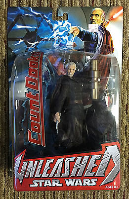 Star Wars Unleashed Count Dooku Figure Hasbro 2004 New on Sealed Card