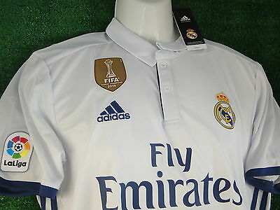 Real Madrid Kroos Home Shirt * Fifa Wc 2016 Gold Badge * 2016-17 Size Large Bn