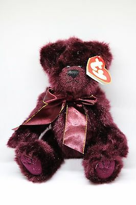 "Ty Beanie Babies Attic Treasures ""beargundy"" The Bear, Retired 1993 W/ Tag 6068"