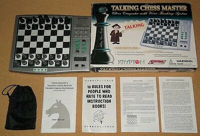 Krypton - Electronic Talking Chess Master Computer - Boxed Working