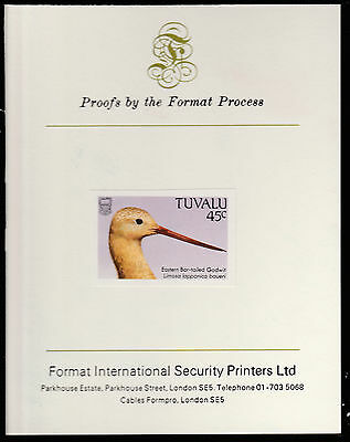 Tuvalu (1409) - 1988 BIRDS 45c imperf on Format International PROOF  CARD