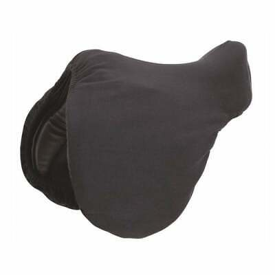 Horse Riding Seat Saver Saddle Protector - Black - Simulated Sheepskin by Elico