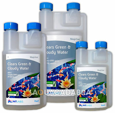 Nt Labs Magiclear Clears Fish Pond Green And Cloudy Water Clarity Crystal Clear
