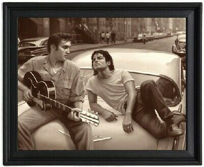 Elvis and Michael Poster Picture Frame - Presley and Jackson - 8x10