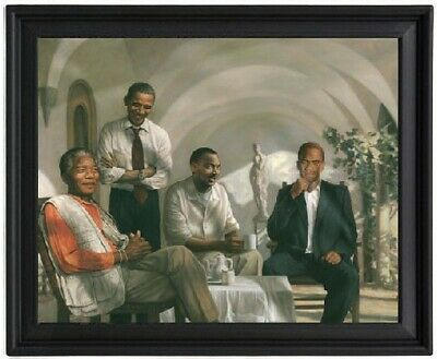 The Pioneers Poster Picture Frame - Mandela - Obama - MLK Martin Luther King - M