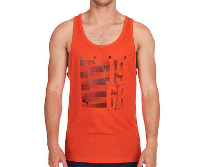 Puma Men's Summer Slub Tank - Orange.com