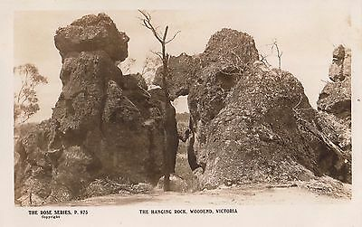 Real photo George Rose postcard the Hanging Rock Woodend Victoria Australia