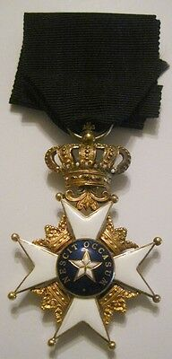 Sweden Swedish GOLD Royal Order of the Northern Star, 4th Class, 2nd type. medal