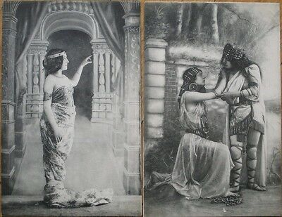 Art Nouveau 1902 PAIR French Fantasy Postcards - Women, Jewelry