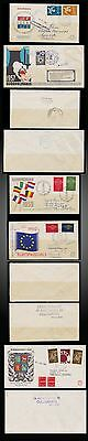 1957 1959 1960 1961 Rare Netherlands Fdc Circulated Europa Telephone Network