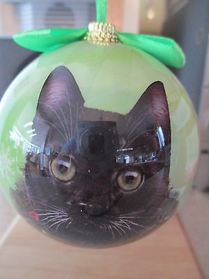 Black  Cat   ~ Christmas Ball Ornament