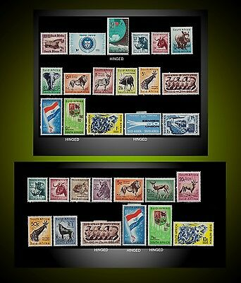 1955 - 1961 South Africa 2 Complet Years Mint Hinged No Remained Paper