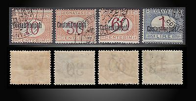 1922 Italian Offices Abord Constantinople Postage Due Stamps Used Incomplete