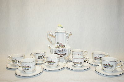 Rosenthal Classic Rose RIVIERE Strasborg River Coffee SET: Pot, Cups and Saucers