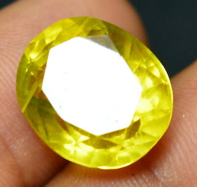 """14.15 CT 100% Natural Heliodor Yellow Color """"GGL Certified"""" Oval Cut Gemstone"""