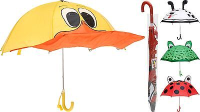 Children's Umbrella Boys Girls Umbrella Animal Design Kids Brolly with Whistle
