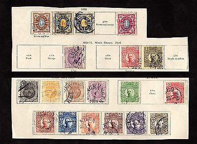 Stamps ~ SWEDEN ~ NICE POSTMARKS Early Classics UNSORTED
