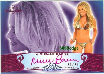2010 Benchwarmer Ss Pink Auto: Michelle Baena #20/25 Autograph Playboy Covergirl