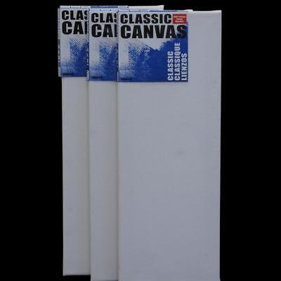 "Artists Blank Art 15cm x 40cm 17mm Flat Canvas Oils Acrylic Gesso Primed 6""x16"""