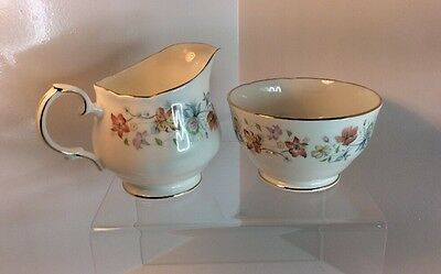 Duchess Bone China Sugar Bowl And Milk Jug With Evelyn Pattern