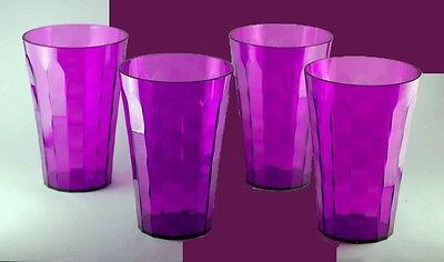 Tupperware ICE PRISMS 16 oz. TUMBLERS Purple SET OF 4