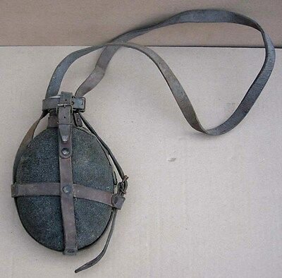 Original WWII army canteen bottle with strap, Bulgaria combat equipment uniform