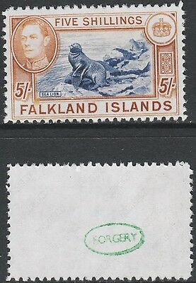 Falklands (1418)) 1938 KG6 Sealion 5s -  a Maryland FORGERY unused