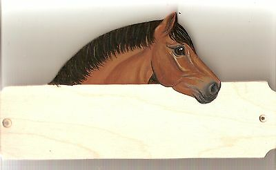 M & M horse/pony stable/stall/barn name plate/plaque/sign personalised gift