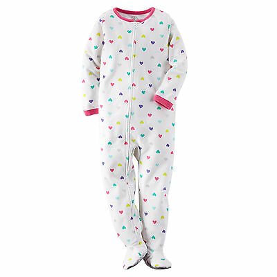 NWT ☀FOOTED FLEECE☀ CARTERS Girls HEARTS Pajamas  New   YOU PICK  18m 24m 2T 4T